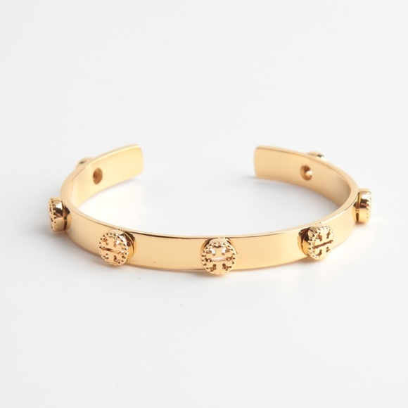 8bcc32da6b4068 Tory Burch Jewelry | Logo Stud Cuff Bangle Bracelet | Poshmark